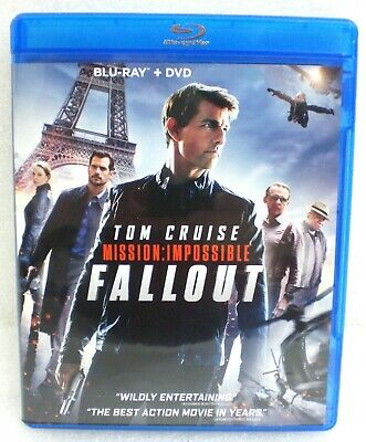 MISSION: IMPOSSIBLE - FALLOUT  2018 Blu-Ray + DVD  3-Disc Set   Like New