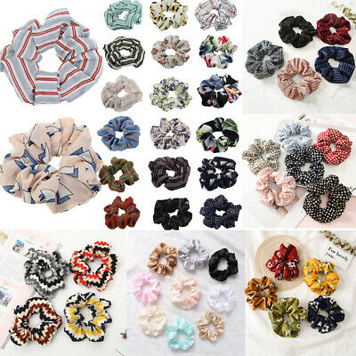 Spring Flower Hair Scrunchie Ponytail Holder Hair Ties Rope Elastic Hair Band C8