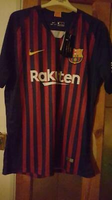 FC Barcelona Men's Nike 2018/19 Home Shirt size XL EXTRA Large New