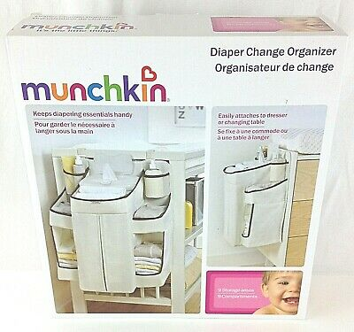 Munchkin Diaper Change Organizer, Attaches to Dresser or Changing Table - NEW