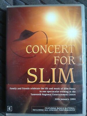 Concert for slim dusty Tamworth LIVE CONCERT DVD GOOD CONDITION various artists
