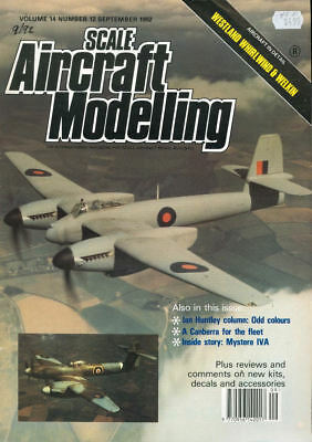 Scale Aircraft Modelling Sep 92 Westland Whirlwind Welkin_Mystere Iva_Canberra T
