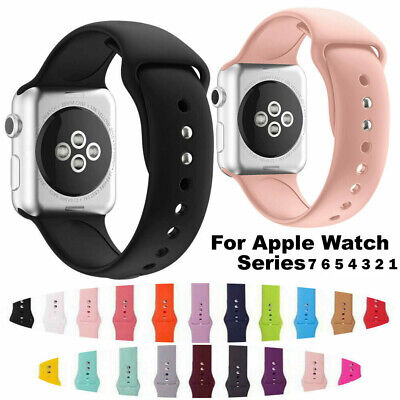 Silicone Sport Soft Band Wristband Strap for Apple Watch iWatch 38/40/42/44mm