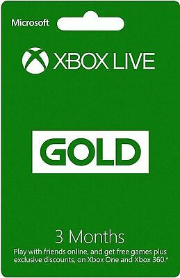 Xbox Live 3 Month Xbox One / Xbox 360 DOWNLOAD CODE *READ DESCRIPTION* NEW