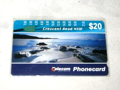 A Mint Unused Telecom Australia $20 Crescent Head N.S.W. Phonecard