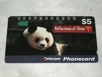 A 1988 Mint Unused Telecom Australia $5 Reflections of China Phone Card