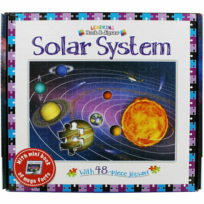 Learning Book and Jigsaw - Solar System (Paperback), Children's Books, Brand New
