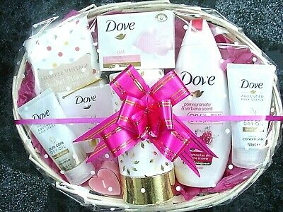 81e90f6b03fd4 Dove Birthday Mothers Day Pamper Hamper Gift Basket Set Present Easter For  Her