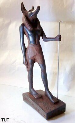 ANCIENT EGYPTIAN ANTIQUE ANUBIS Stand Statue Stone 1660-1480 BC