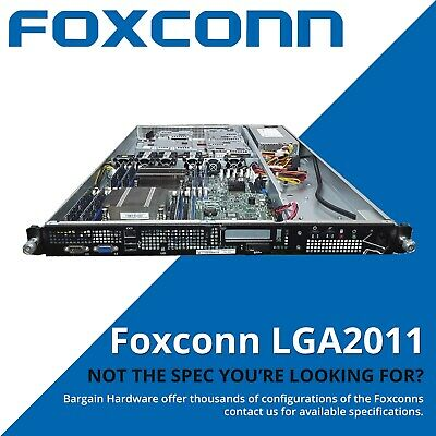 Cheap Dual Eight Core 1U Rack Server, Foxconn w/ 2x LGA-2011, 48GB RAM, Caddies