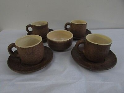 Ceres Set 4 Cups Saucers Bowl Australian Pottery Reg Preston Phyl Dunn Ceramic