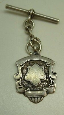 Sterling Silver Fob Medal Stamped Wa , Wwc Birmingham William Aitken , Cashmore