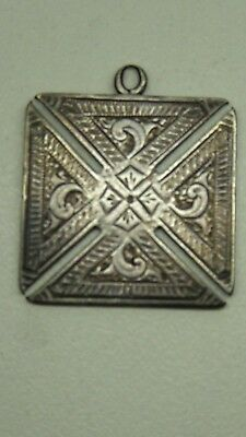 ANTIQUE STERLING SILVER HALLMARKED STERLING MALTESE CROSS SHAPED  -   (# w36)
