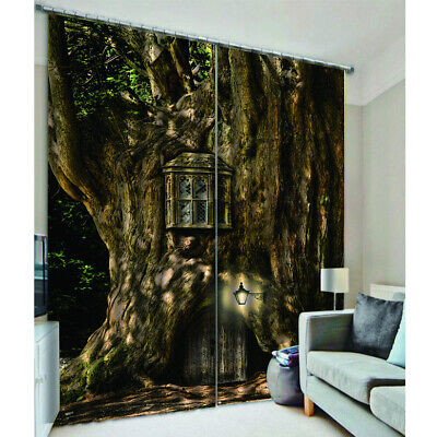 Blackout Curtains 3D Forest Printed Window Curtains Drapes For Living Room