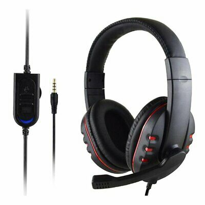 3.5mm Gaming Headset MIC Stereo  Headphone for PC Mac Laptop PS3 PS4 Xbox one wD