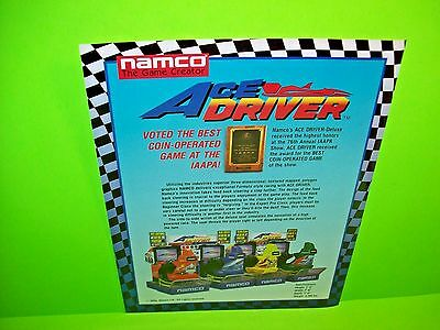 1994 Namco Ace Driver Video Flyer Mint Manuals & Guides