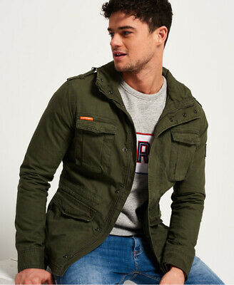 New Mens Superdry Rookie Military Jacket Patrol Khaki