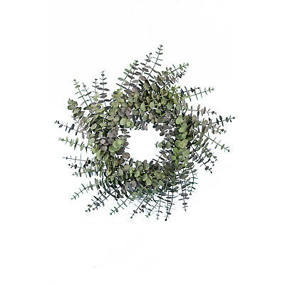 Spiral Artificial Eucalyptus Winter Wreath 60cm/24 Inches