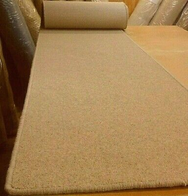 80% WOOL WHIPPED BUDGET FEATURE STAIR RUNNER 58cm x 8metres HEAVY TWIST PILE