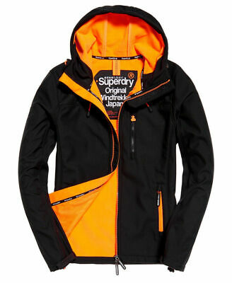 New Mens Superdry Hooded SD-Windtrekker Jacket Black