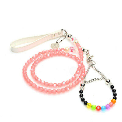 Small Pet Dog Collar Leash Set Lead Puppy Cat Neck Safety Control Walking Chain