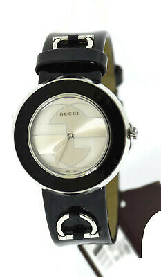 e6515f6e11c AUTHENTIC GUCCI WOMEN S U-Play Blue Watch Stainless Steel Gg Logo ...