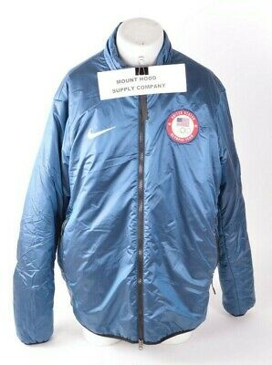 96f55f4983d094 2018 NWT MENS NIKE TEAM USA FULL-ZIP MIDLAYER JACKET  320 XL Blue medal  stand