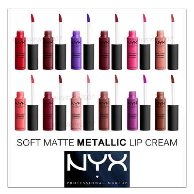NYX Soft Matte Metallic Lip Cream Choose any 1 color SMMLC