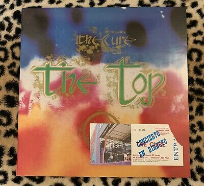 "The Cure ""The Top"" vinyl album(1984)+ticket stub Barcelona show at Studio54 1985"
