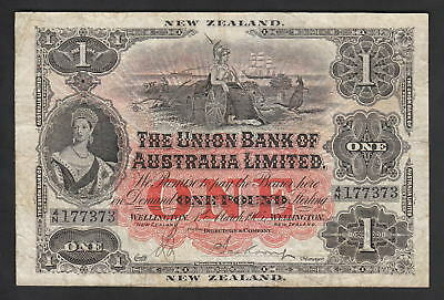 New Zealand PS-362b. Union Bank of Australia - 1905 1 Pound..  Wellington.. Fine