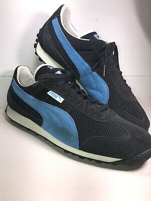 Suede Vintage Puma Vtg Sneakers Rare Shoes Mens And Blue Navy 13 1987 XOuwkZPiT
