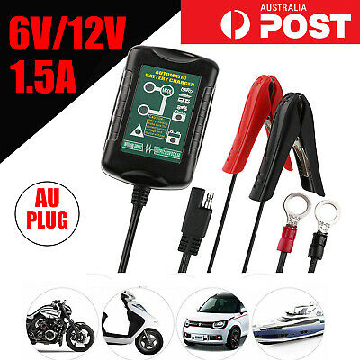 Battery Charger Maintainer Tender Trickle 6V 12V 1.5A Car Automatic Motorcycle