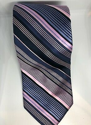 be1cebc929e0 TED BAKER MENS Necktie Tie Colorful Striped Orange Teal Blue 62 ...