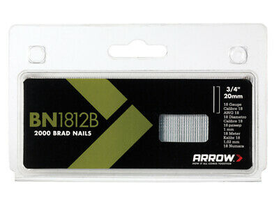 Arrow BN1812B Brad Nails 20mm Brown Head Pack 2000 ARRBN1812B