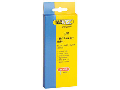 Tacwise 180 18 Gauge 25mm Nails Pack 1000 TAC0361