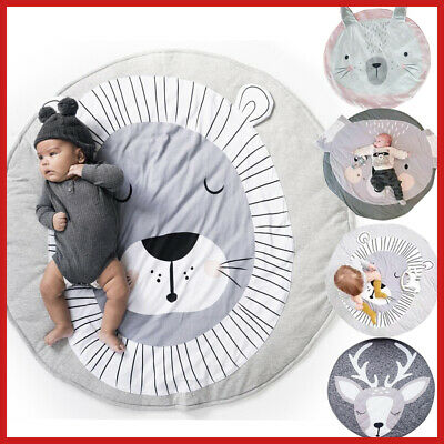 Baby Blanket Game Playmat Children Play Rug Carpet Crawling Cotton Mat Kids Soft