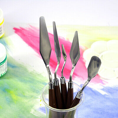 AU Oil Painting Palette Pigments Knives Spatula Scraper Shovel Square Spade Kit