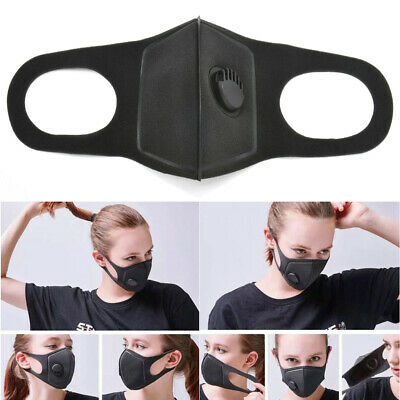 Air Purifying Face Mask Cover Anti Dust Multi Layer Haze Mouth Muffle Filter FS