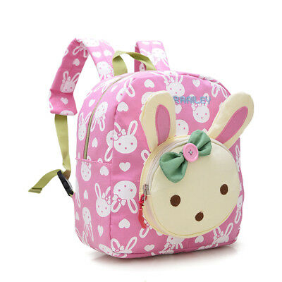 Children Baby Girls Boys Kids Cartoon Rabbit Animal Backpack Toddler School Bag