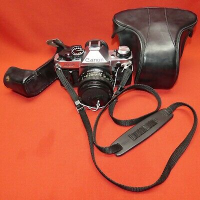 Canon AE-1 Program 35mm SLR Film Camera with FD 50mm f/1.8 Prime Lens EXCELLENT