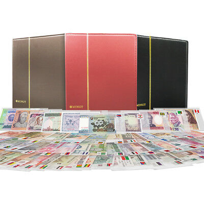 100 PCS Different Mix World Banknotes 100 Countries Genuine Notes in album, UNC