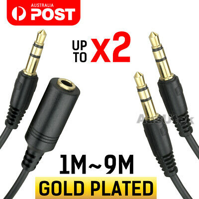 AUX Male to Male/ Female Cable Audio 3.5mm Headphone Stereo Extension Cord