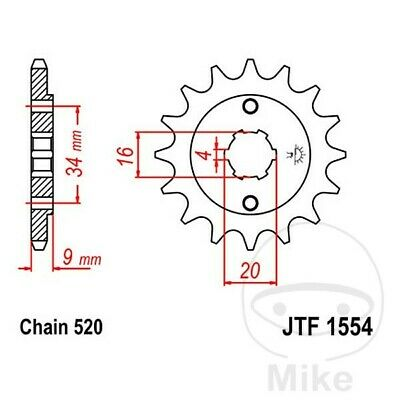 JT Front Sprocket 12T 520 Pitch JTF1554.12 Hyosung GT 250 Naked 2004-2007