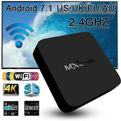 2019 MXQ Android 7.1 TV Box S905W 4K HD H.265 Quad Core 1G 8G WiFi Médias Player