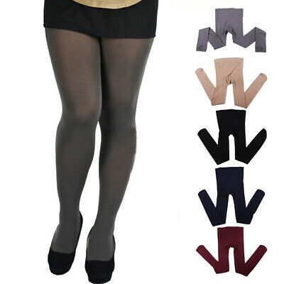 994a13d8085ff Women Ladies Elastic Solid Tights Pantyhose Stockings Footed Velvet Plus  Size