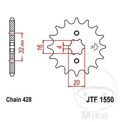 JT Front Sprocket 13T 428 Pitch JTF1550.13 Yamaha YZF-R 125 2008-2016