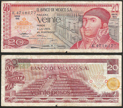 MEXICO - 20 pesos 1973 P# 64b America banknote - Edelweiss Coins