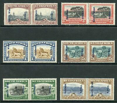 South West Africa SG49/54 1927 Set of 6 (1/- gum bend) M/M