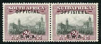 South West Africa SG07a 1929 2d Official Variety No Stop After OFFICIAL M/M