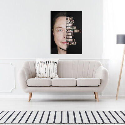"Motiv-Art ""The Musk"" Wall Art Canvas with Quotes for office/entrepreneur"
